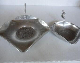 Two Vintage Aluminum Trays