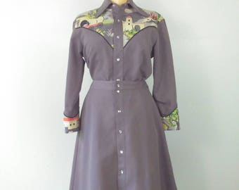 OUTLAW Rockabilly 50's/60s Western Pinup Girl Two Piece Vintage Western Ensemble Size Medium