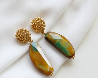 Agate earrings dangle earrings drop earrings gift for her