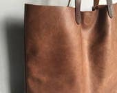 Soft brown leather tote brown leather shoulder bag brown leather handbag brown leather shopper brown leather mum bag brown leather hobo