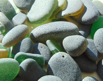 Black Seaglass,Seaglass Supply,Beachglass Craft,Assorted Seaglass,Large Supply,Smooth Seaglass,Art And Craft Supply,Assorted Greens,