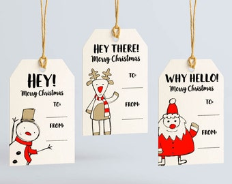 Merry christmas tags etsy holiday gift tags variety pack christmas tags christmas gift tags merry christmas tag negle Image collections