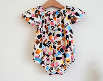 READY TO SHIP***The 'Sweet' Romper Suit - Baby Toddler Girls Size 3-6m