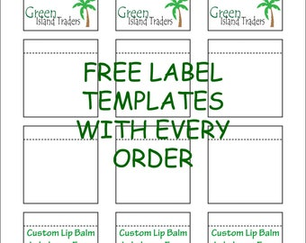 Customizable Lip Balm Labels | 20 Sheets | 240 Labels | White | Free USPS First Class Mail