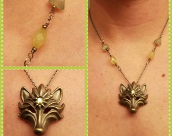 Ooh Foxy Lady Necklace With Green Beading
