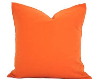"""One Orange pillow cover, decorative throw pillow, decorative pillow, accent pillow, pillow case, 12"""" 14"""" 16"""" 18"""" 20"""", Orange Throw Pillow"""