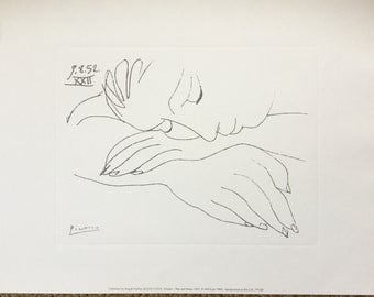 "Picasso Silk Screen / Serigraph ""Sleeping Woman"" 1952"