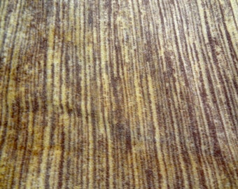 "31"" x 24"" vintage upholstery craft fabric brown and gold striated soft flat shabby fabric b99"