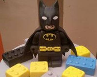 batman lego edible cake topper