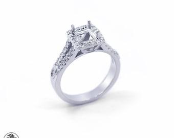 Semi Mount Ring, Diamond Semi Mount Engagement Ring, Split Shank Ring, Split Shank Semi Mount, Diamond Ring | LDR02230