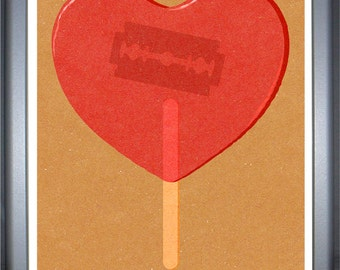 Razor lolly, signed limited edition print