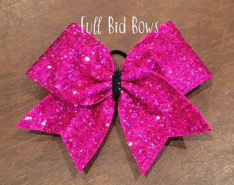 Cheer Bow - Hot Pink Sequin