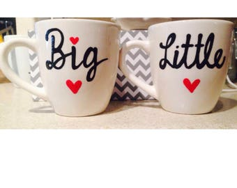 Sorority Sisters- Big Little Best friend mugs- Stocking Stuffers for sorority - big brothers big sisters