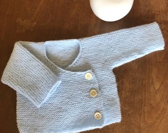 Wrap over top baby, for a 1 month old , blue