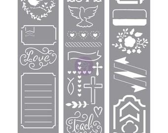 My Prima Planner Embellishments - Love Faith Scrap -Stencils