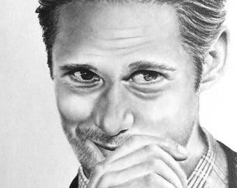 Custom Pencil Drawing - Alexander Skarsgard