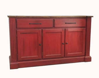 Sideboard / Rustic Farmhouse Buffet / Shabby Cottage Furniture / Country Furniture
