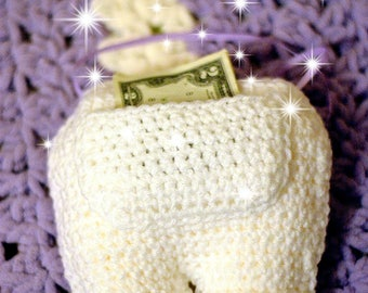 Tooth Fairy Pillow - Tooth Pillow - Tooth Fairy - Children's  Tooth fairy pillow - Tooth Cushion - Crochet Tooth Pillow -  Tooth Pouch -