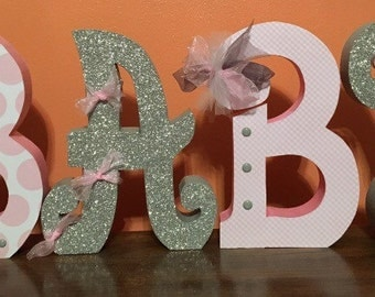 Custom wood letters. Wood letters. Nursery letters. Nursey wood decor. Baby shower decor baby shower gift