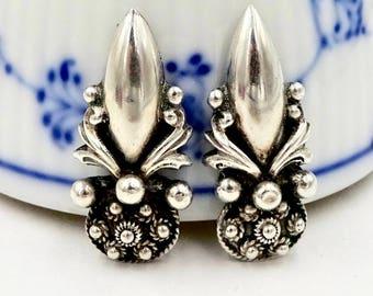 Vintage PERUZZI 800 SILVER EARRINGS Early Peruzzi Florence Sterling Silver Screw Back Earrings