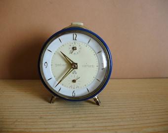 Antique vintage German Alarm clock Peter / alarm clock / retro clock / alarm clock 1960s / JUNGHANS trend alarm clock rustic home decor