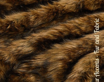 Faux Fur Medium Brown Wolf - Fabric - Shag, Crafts, Sewing, Baby & Pet  Photo Props