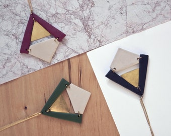 UNOVIS Necklace · Geometric necklace · Minimal accesories