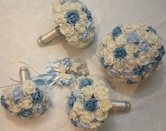 Artificial Foam Flower Wedding Bouquet Package