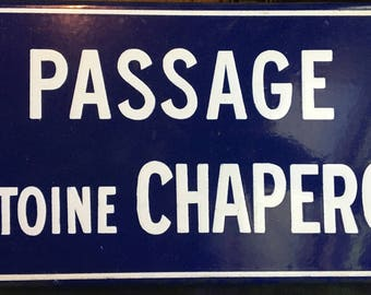 Vintage Heavy Enameled French Street Sign - Roanne France