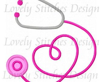 Stethoscope Applique Machine Embroidery Design NO:0584