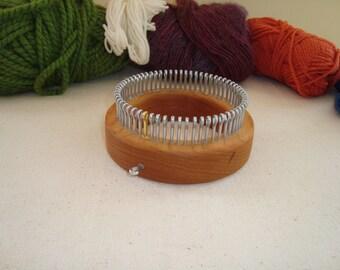 Sock Knitting Loom - Extra Fine Gauge - XFine - Wood Round - Adult Sizes  - Cottage Looms