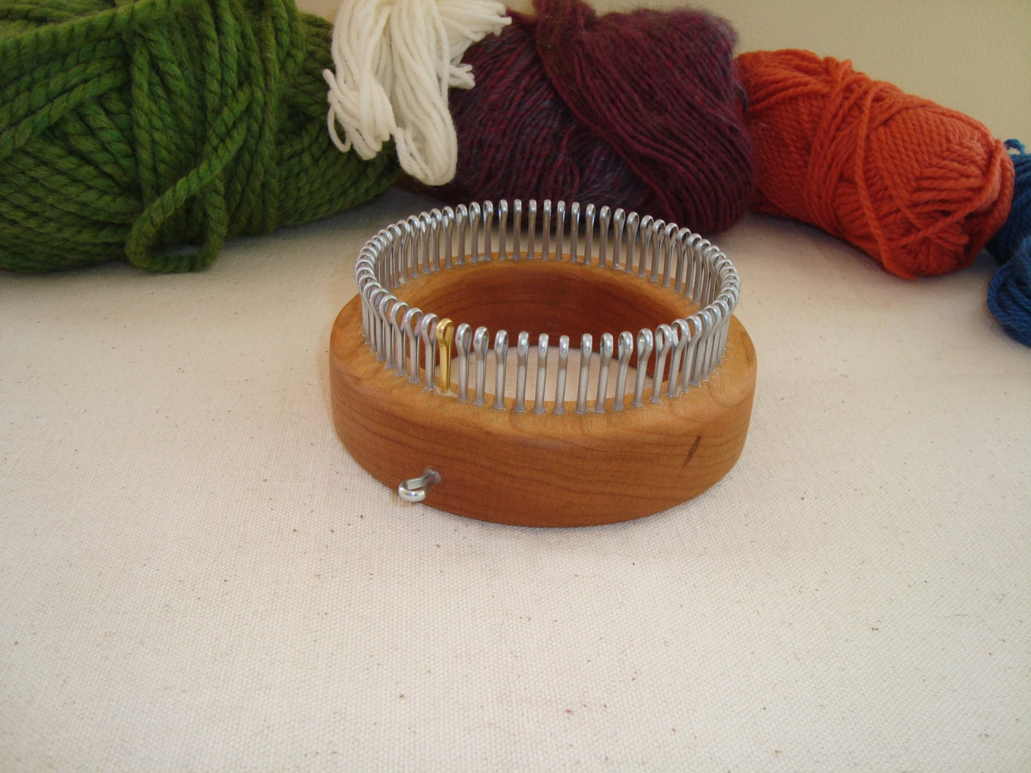Knitting Looms Wood : Sock knitting loom extra fine gauge xfine wood round