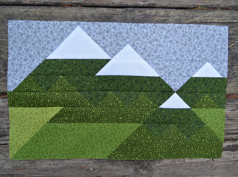 Mountain Range Quilt Block Pattern Pdf Instant Download