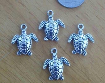 Wholesale 4 American Pewter Sea Turtle Charms