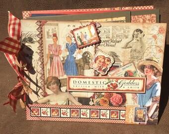 Graphic 45's Domestic Goddess, Fun, Interactive Mini Album