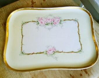 Antique Limoges dresser tray