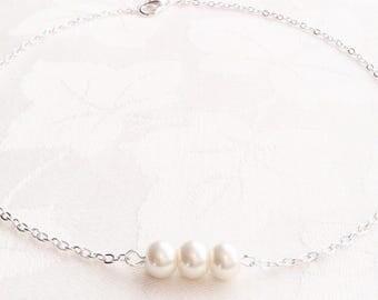 Pearl Necklace, Pearl Jewellery, Bridesmaid Necklace, Ivory Necklace, Ivory Pearl Jewelry, Bridesmaids, Wedding