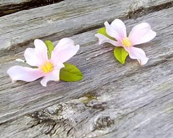 Pink Dogwood Hair Pins, Dogwood Bobby Pins, Dogwood Bridal Hair Decorations, Pink Flower Girl Pins, Spring Wedding, Flower Bobbies, F09