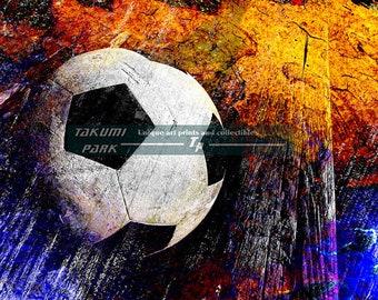 European Football, Soccer Art Print, Futbol, Sports Wall Decor, Bedroom Wall Art, Soccer Room Decor, Photo Print, Colorful Modern Art Decor