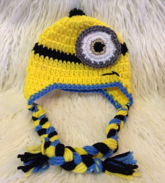 Free Minion Crochet Hat Pattern With Ear Flaps Legitefo For