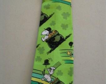 Snoopy's St. Patrick's Day Necktie