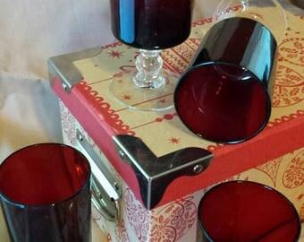 Luminarc French Ruby Wine Glasses