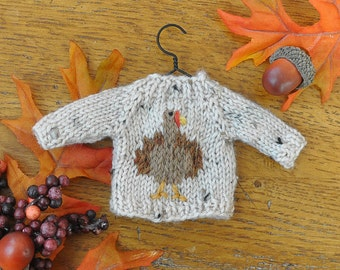 Turkey Hand-Knit Sweater Ornament  *Available to Order*