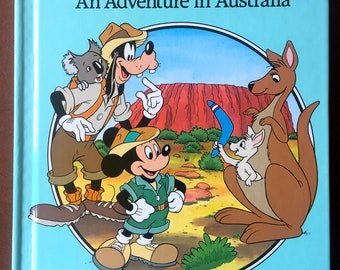 Disney's Small World Library Mickey and Goofy Down Under An Adventure in Australia HC Book