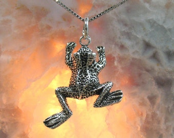 Frog Pendant, Sterling Silver, .925 - Item P2128