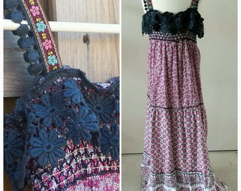 Girls Summer Dress INDIAN MAGIC  Handmade OOAK