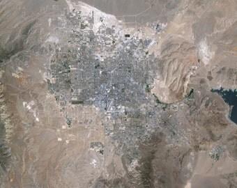 Satellite Image of Las Vegas, Nevada- via NASA Satellite