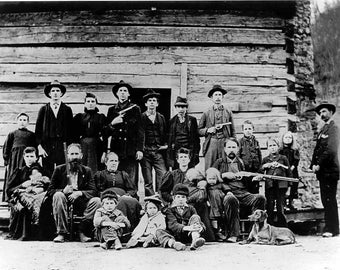 The Hatfield Clan of West Virginia, in 1897, Hatfields vs McCoys of W. Virginia