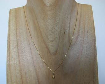 Delicate Solid 18k Yellow Gold Necklace