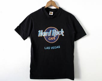 SMALL Vintage 1990s Hard Rock Cafe Las Vegas Graphic T-Shirt